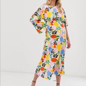 ASOS maternity asymmetrical dress
